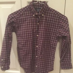 Boys Ralph Lauren Button Down Check Plaid Shirt 6